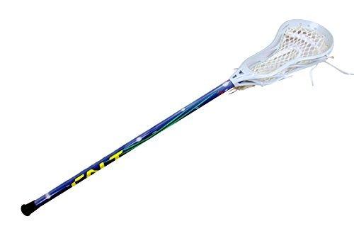 Calt Men's Complete Lacrosse Stick with Aluminum Shaft & Head (White Blue)