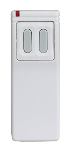 Linear DXS-23 Supervised 3-Button, 4-Channel Handheld Transmitter, White with Green Buttons