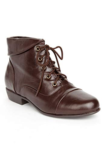 Comfortview Women's Wide Width The Darcy Bootie - 10 W, Brown (Dress Up Women Boots)