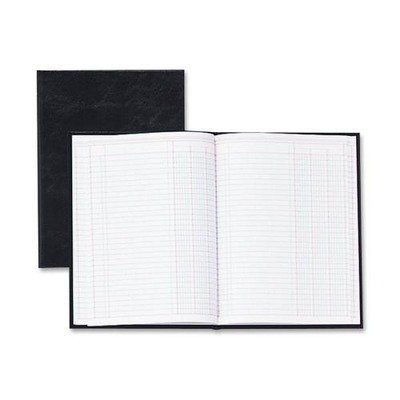 Wilson Jones 74102 2 Column Book, 80 pages, 9-1/4 in.x7 in, Black by Wilson Jones