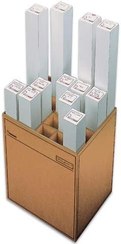 Pressel Zeichenrollenständer, 20 Fächer, Wellpappe, 46x35,3x60cm, braun