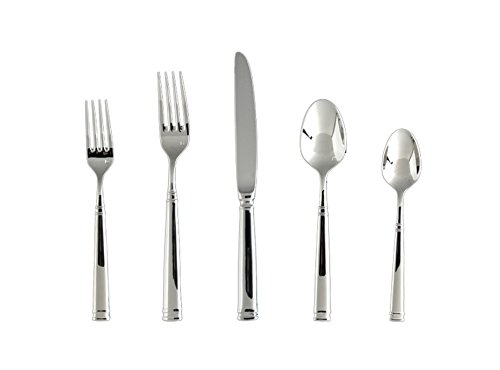 - Fortessa Bistro 18/10 Stainless Steel 20 Piece Flatware Set