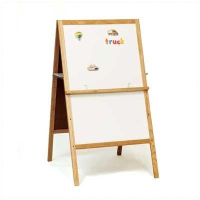 47-Inch x 24-Inch Teacher's Helper Dual Sided Easel Whiteboard