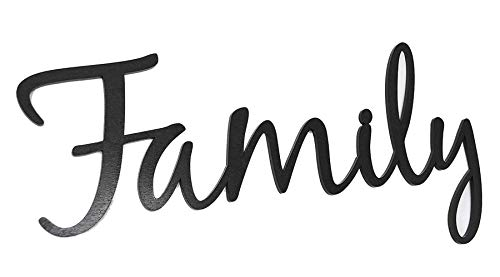 Family Word Art Wood Cutout