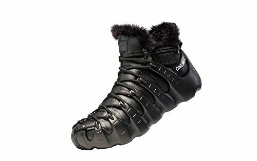 Onemix Scarpe Da Donna Con Fodera In Pelliccia, Tre Modi Di Indossare Scarpe Romane, Stivali Invernali Alti Alla Caviglia Neri