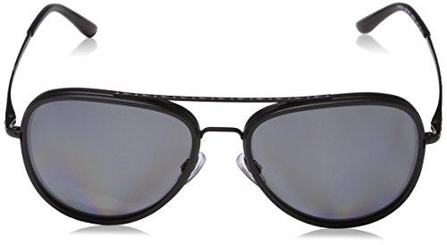 26d1b01c23 Amazon.com  Giorgio Armani Mens Sunglasses (AR6039) Black Matte Grey Metal  - Polarized - 56mm  Clothing