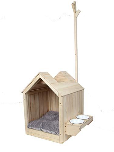 Xiguan Dog House Kennel Cat Nest Wood House Villa Outdoor Pet Supplies with Hanger (Style : Pet Chalet)