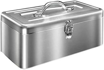 HLD カーステンレスツールボックス多機能携帯家庭用車のハードウェアストレージボックス肥厚ブリキ箱 ツールボックス (Size : S)