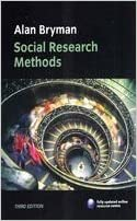 Social Research Methods Bryman A 9780199562879 Amazon Com Books