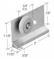 Shower Door Roller Assembly Package (CRL 3/4 Oval Edge Nylon Sliding Shower Door Roller Assembly - Package by C.R. Laurence)
