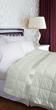 JBFF 233TC 100% Cotton Down Alternative Blanket (Full/Queen, Sage)