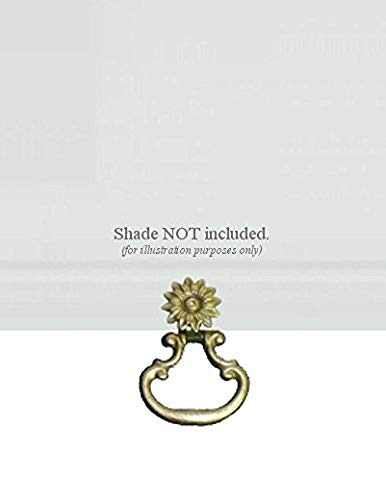 Ring Shade Pulls - ALURA Roller Window Shade SNAP-ON Metal Ring Pull - Large with Brass Finish - NO Tools Required!