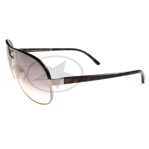 Tom Ford Men's 0111 Pierre Light Grey / Tortoise Frame/Dark Grey Lens Metal Sunglasses
