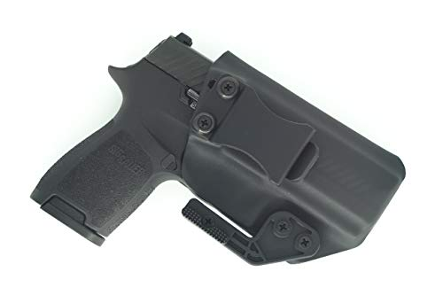Sunsmith Holster AIWB Series - Compatible with Sig Sauer P320 Compact Kydex Appendix Inside Waistband Concealed Carry Holster Made in USA by Fast Draw USA (Black - Right Hand)
