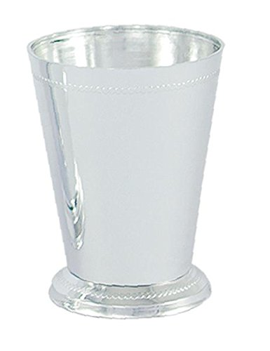 4 1/2'' Plastic Mint Julep Cup Silver - Sold by box - 36 Per Box by Vacuum-Orna Metal