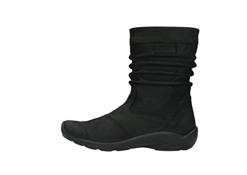Wolky Jacky Oiled Comfort Bottes Black Leather 50000 ssd Hdd wqA4BwF
