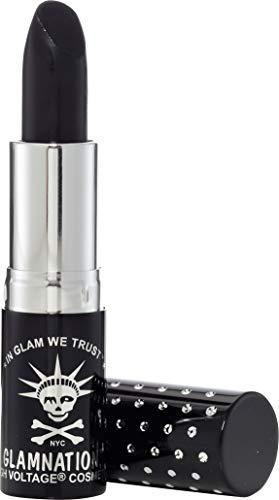 Manic Panic Nosferatu Lethal Lipstick - Deep Shade Of Opaque Black Lipstick - Kitten Colors Formula Lipsticks Have A Rich, Velvety Matte Texture - Vegan & Cruelty Free Black Matte Lipstick