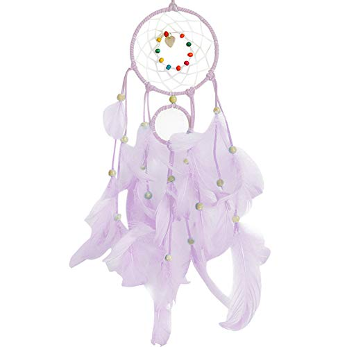 Hot Sale!UMFun Handmade Dream Catcher Feathers Night Light Car Wall Hanging Room Home Decor (Purple)