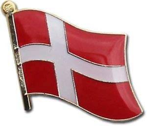JumpingLight Wholesale Pack of 3 Denmark Country Flag Bike Hat Cap Lapel Pin for Home, Official Party, All Weather Indoors Outdoors
