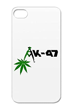 Anti Drop Ak47 Weed Transparent Case For Iphone 4 Stoner Symbols