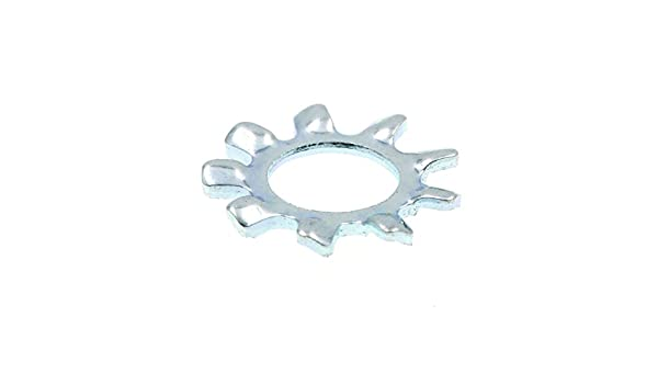 Prime-Line 9083122 Lock Washers External Tooth #10 50-Pack Zinc Plated Steel