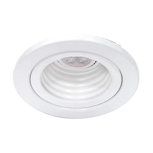 """WAC Lighting HR-834LED-WT/WT 2.5in Round Step Baffle Trim LED Recessed Light, 2.5"""" Low Voltage"""