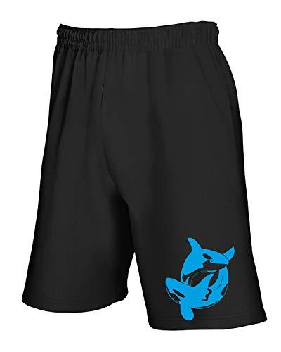 Orcas Pantaloncini Tuta Wes0343 Killer Entwined T 2 Nero shirtshock zPc4Kc1qR