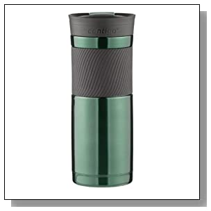 Contigo SnapSeal Byron Vacuum-Insulated Stainless Steel Travel Mug, 20 oz, Greyed Jade