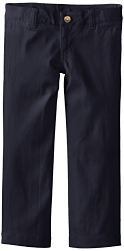 Lee Uniforms Little Girls' Original Straight Leg Twill Pant, Navy, 6X
