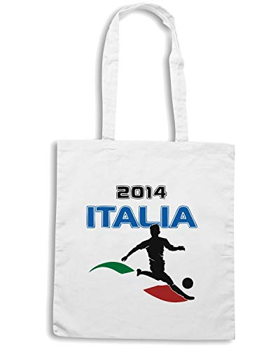 WC0146 Shirt ITALIA Bianca Speed Borsa ITALY Shopper FnSdW