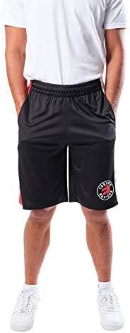 Ultra Game Men's NBA Mesh Basketball Shorts, Toronto Raptors, Black, XX-L