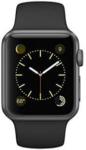 Apple 38mm Smartwatch - Space Gray Aluminum Case/Black Sport Band