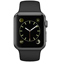 Apple Watch Series 1 38mm Space Gray Aluminum with Black...