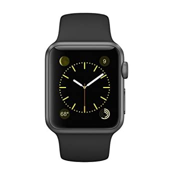 Apple Watch Sport 38mm Space Gray Aluminum with Black Sport Band