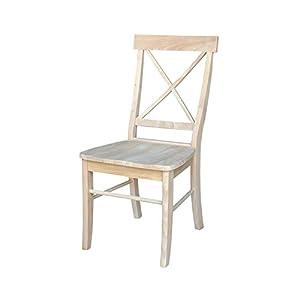 International Concepts Hamden X-Back Chair - 2 Chairs