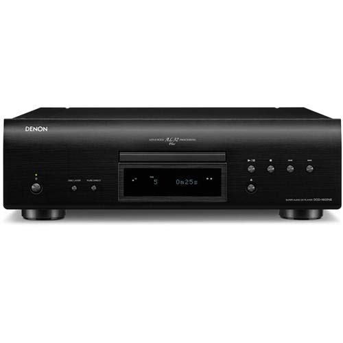 Denon DCD-1600NE Single Disk Super Audio CD Player | Exclusive Vibration-Resistant Design | Powerful Processing | Plays All Modern File Formats | Pure Direct Mode | Optical, Digital Coaxial Outputs