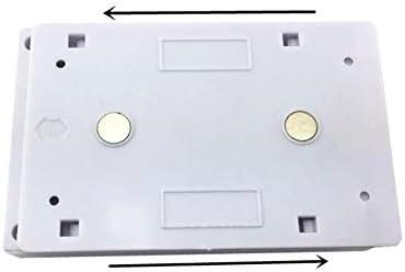Lampe LED COB avec interrupteur MARCHE//ARR/ÊT Applique murale /à piles Petite veilleuse Lampe darmoire Couloir Cuisine Lumi/ère durgence Blanc