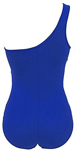 Mujeres Trajes de baño, IHRKleid® Mujeres Oblicua Acolchado Traje De Baño Bikini Monokini Beachwear Azul