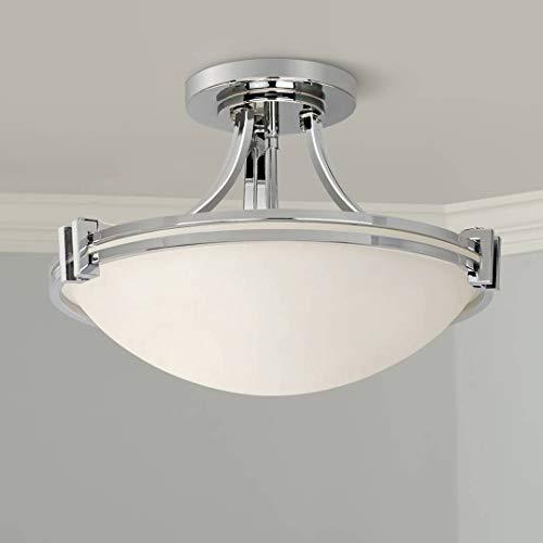 Deco Modern Semi Flush Mount Ceiling Light Fixture Chrome 16