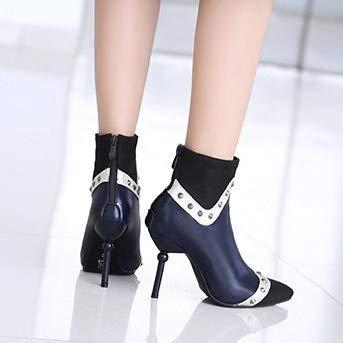 Super Breve Gtvernh Merchandised Signore Da Spillo 9cm moda A Capi Puntata Stivali Bene Blue Tacchi Va Scarpe Stivali Donna wrxYrqgva
