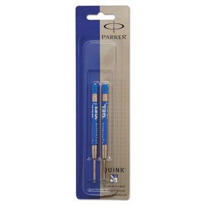 Refill for Parker Gel Ink Roller Ball Pens, Medium, Blue Ink, 2/Pack (Parker Refill Gel Roller Ball)