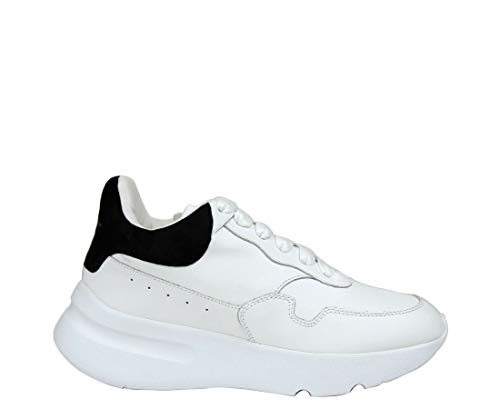 Alexander McQueen Women's White Leather/Suede Sneaker 508291 9061 (39 EU / 8.5 US)