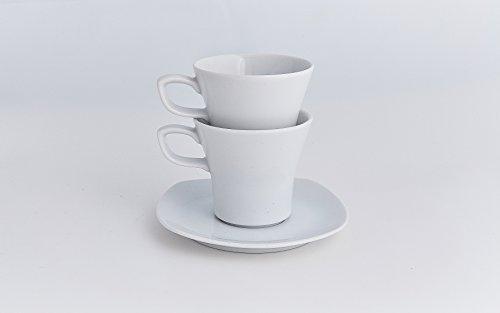 Moritz Zdekauer Square White Espresso Cup & Saucer 4.625'' / 4 oz. | Set of 6 by Moritz Zdekauer