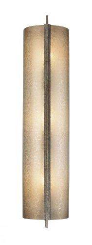 Minka Lavery Wall Sconce Lighting 4393-573, Clarte Glass Wall Lamp Fixture, 3 Light, 180 Watts, Patina