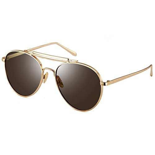 c1c1ce6a4f Dollger Fashion Retro Aviator Pilot Sunglasses UV400 Protection 30 ...