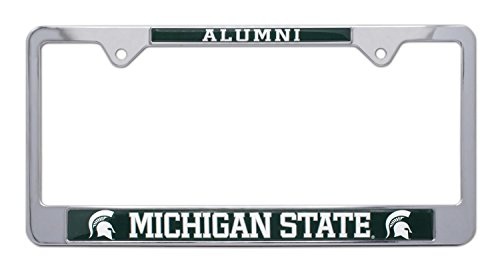 All Metal NCAA MSU Spartans Alumni License Plate Frame (Michigan ()