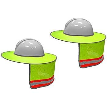 734fdff6f7bbf Maxdot 2 Pack Hard Hat Sun Neck Shield Full Brim Sunshade for Hard ...