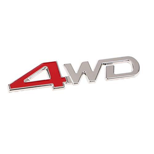 Homyl Universal Car SUV Body Fender Trunk Zinc Alloy 3D ''4WD''Logo Sticker by Homyl (Image #6)