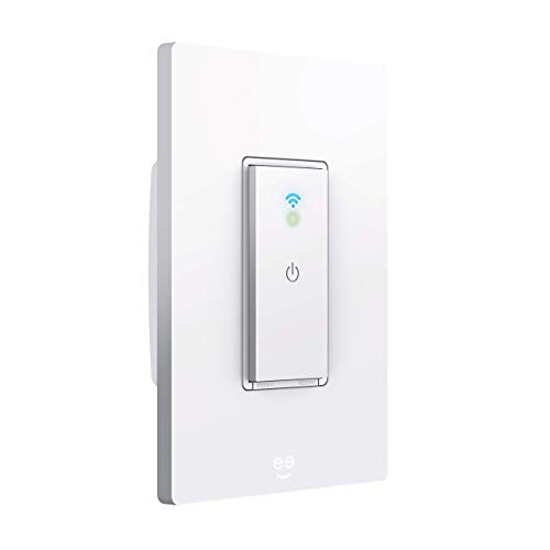 Geeni TAP Smart Wi-Fi Light Switch, No Hub Required, Compatible with Alexa, Google Assistant, and Microsoft Cortana Neutral Wire Required, White (Tap Smart Wifi Switch)