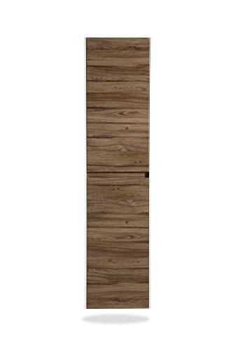 The Ivy 12 Inch Modern, Large, Wall Mounted Bathroom Side Cabinet/Linen Tower by Flairwood Décor by Flairwood Decor